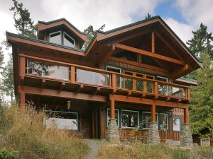 Front Elevation Custom Timber Home