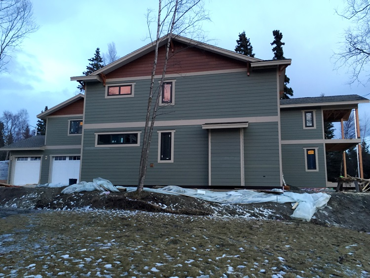 Exterior Finishing On Anchorage Home Pacific Homes