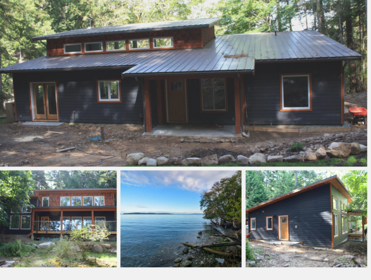 Energy efficient westcoast contemporary prefab cottage for Energy efficient cabin